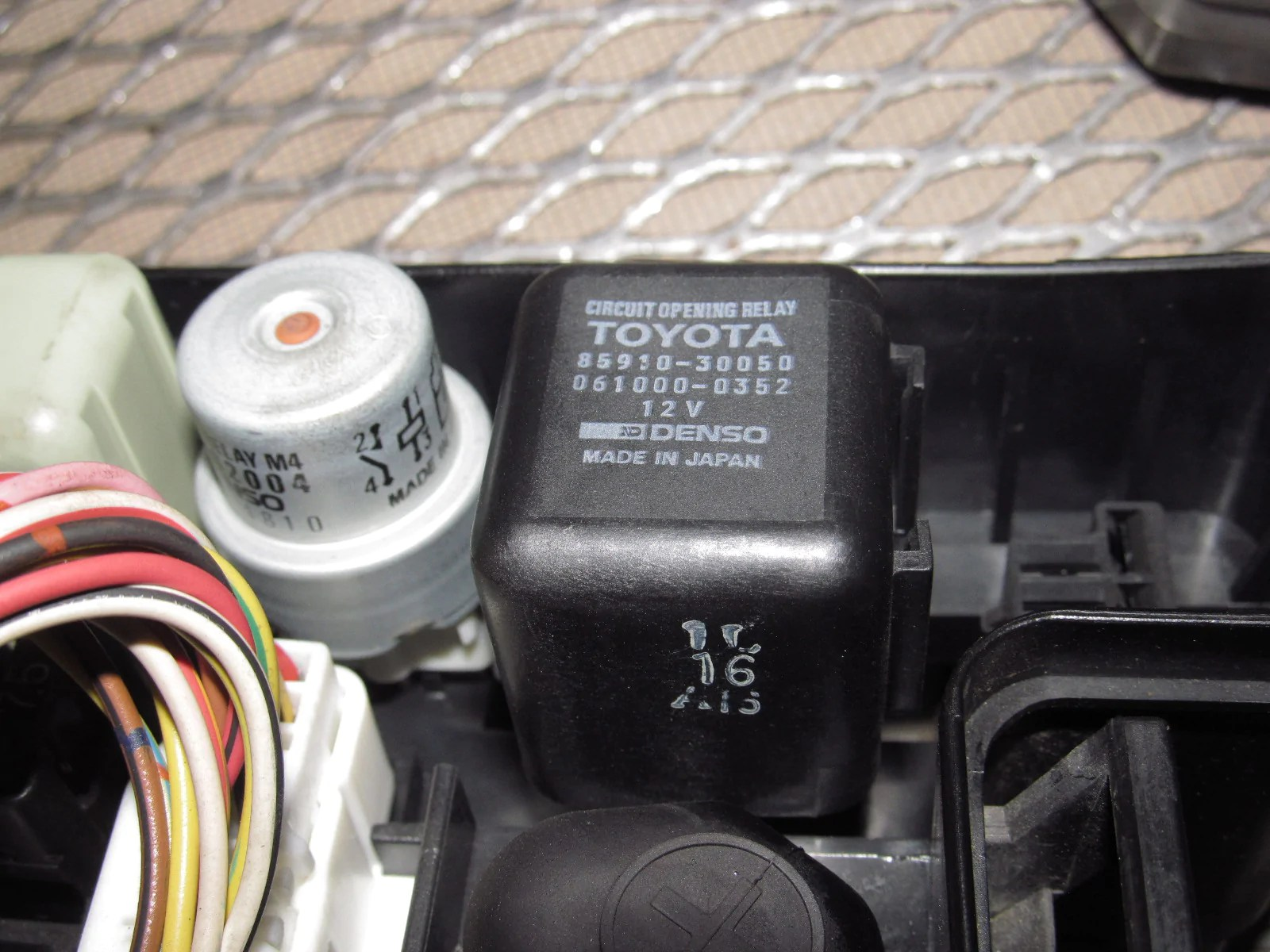 hight resolution of  91 92 93 94 95 toyota mr2 oem engine fuse box