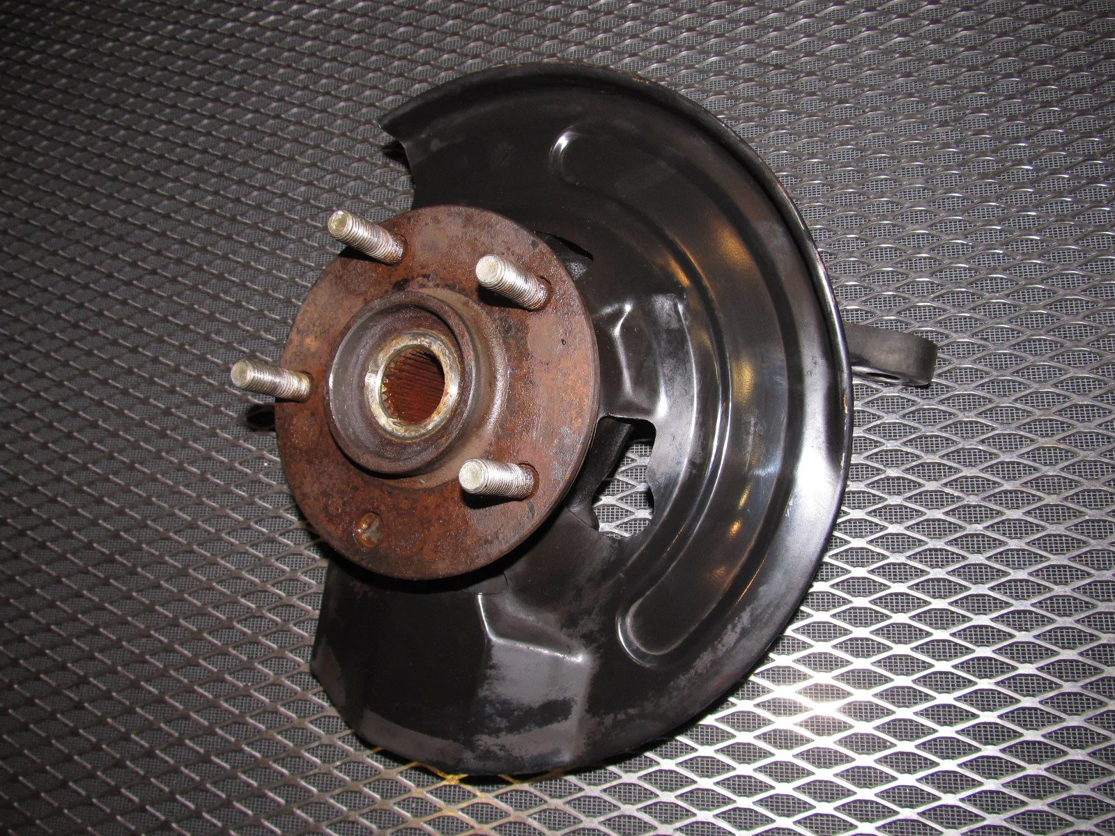 hight resolution of  94 95 96 97 mitsubishi 3000gt oem spindle knuckle assembly front