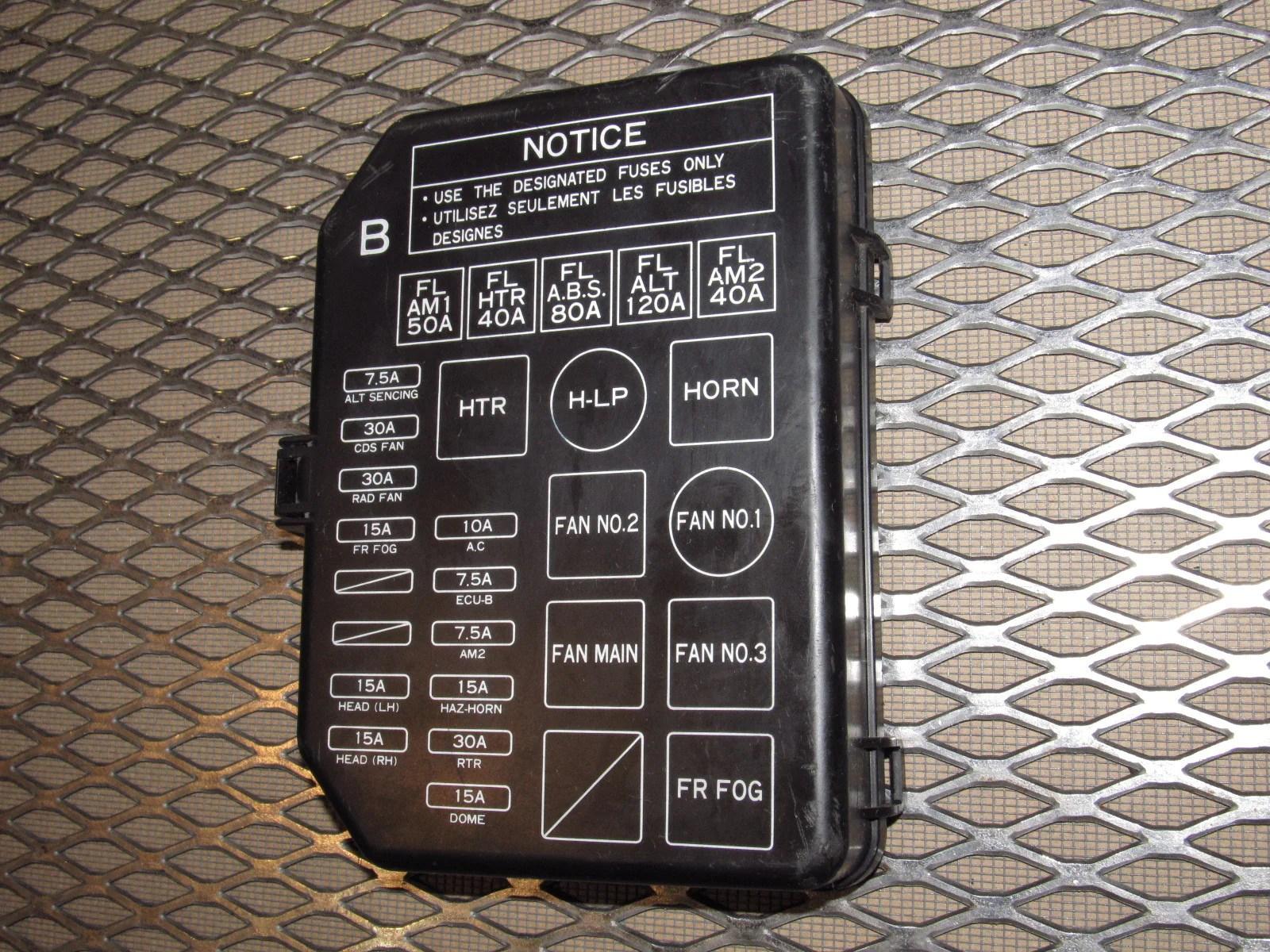 medium resolution of 1988 toyota camry fuse box diagram