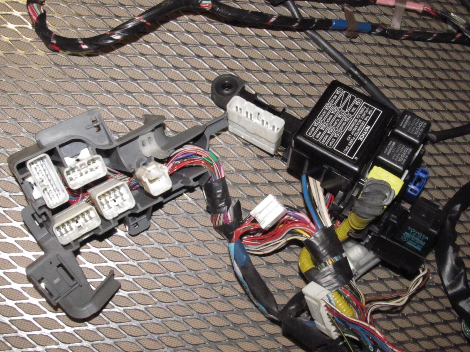 hight resolution of 91 92 93 94 95 toyota mr2 oem 2 2l a t dash wiring harness rh autopartone