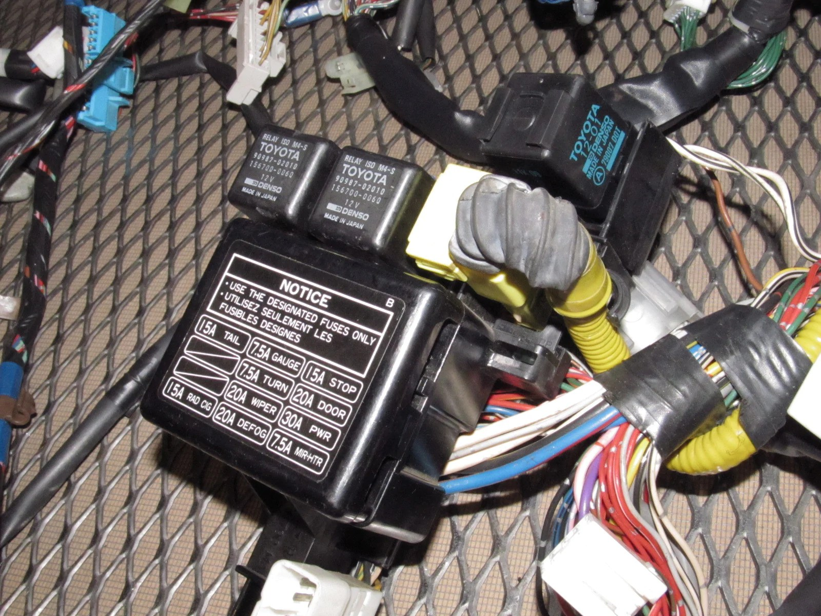 hight resolution of 1993 toyota mr2 wiring harness wiring diagram used 1993 toyota mr2 wiring harness