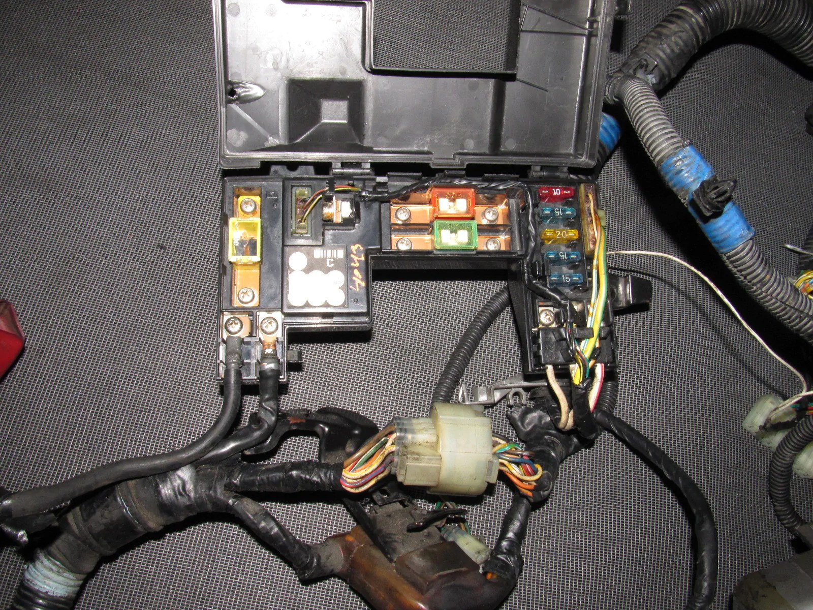 88 89 honda crx oem d15b2 engine wiring harness  [ 1600 x 1200 Pixel ]