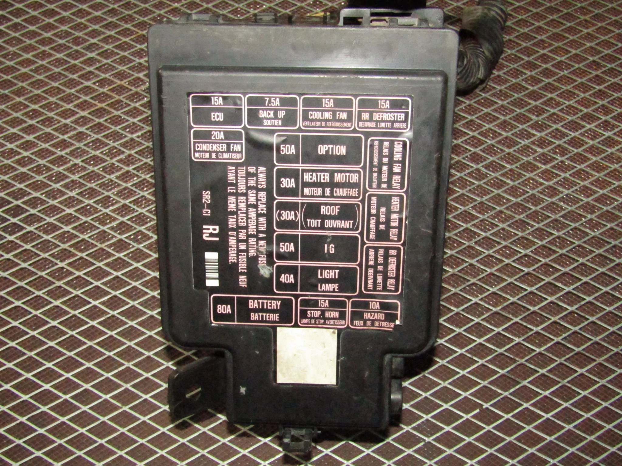 hight resolution of  93 94 95 96 97 honda del sol oem engine fuse box d16z6