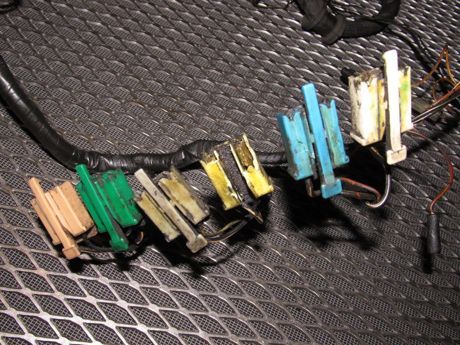 hight resolution of  84 85 mazda rx7 oem 12a engine wiring harness m t