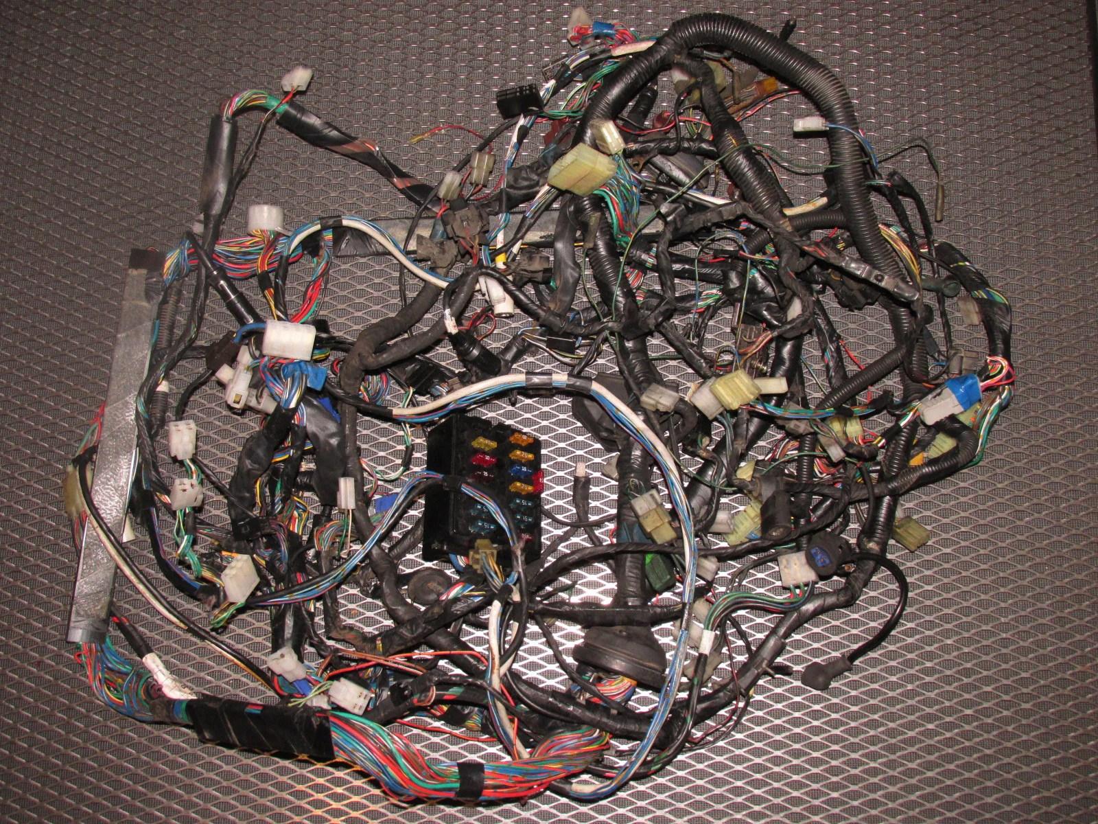 medium resolution of home 84 85 mazda rx7 oem engine computer headlight wiring harness product image