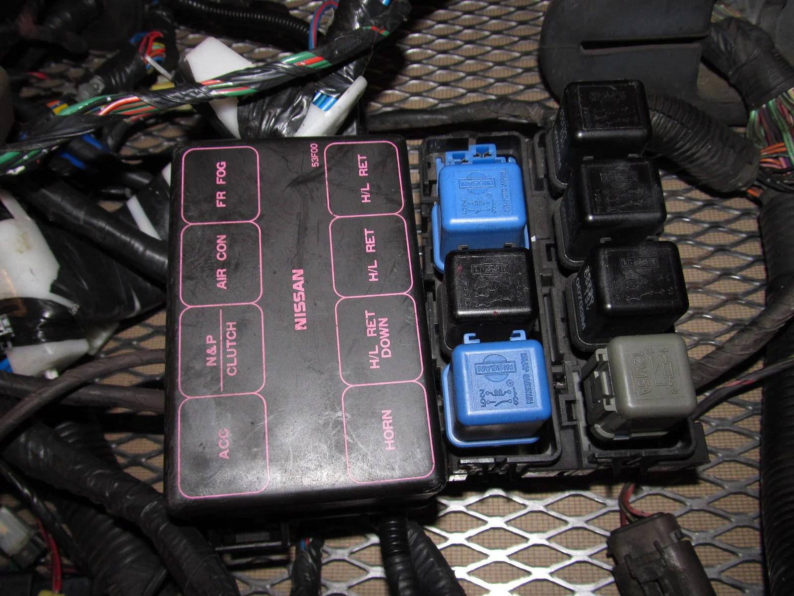medium resolution of  91 92 93 94 nissan 240sx oem fuse box wiring harness
