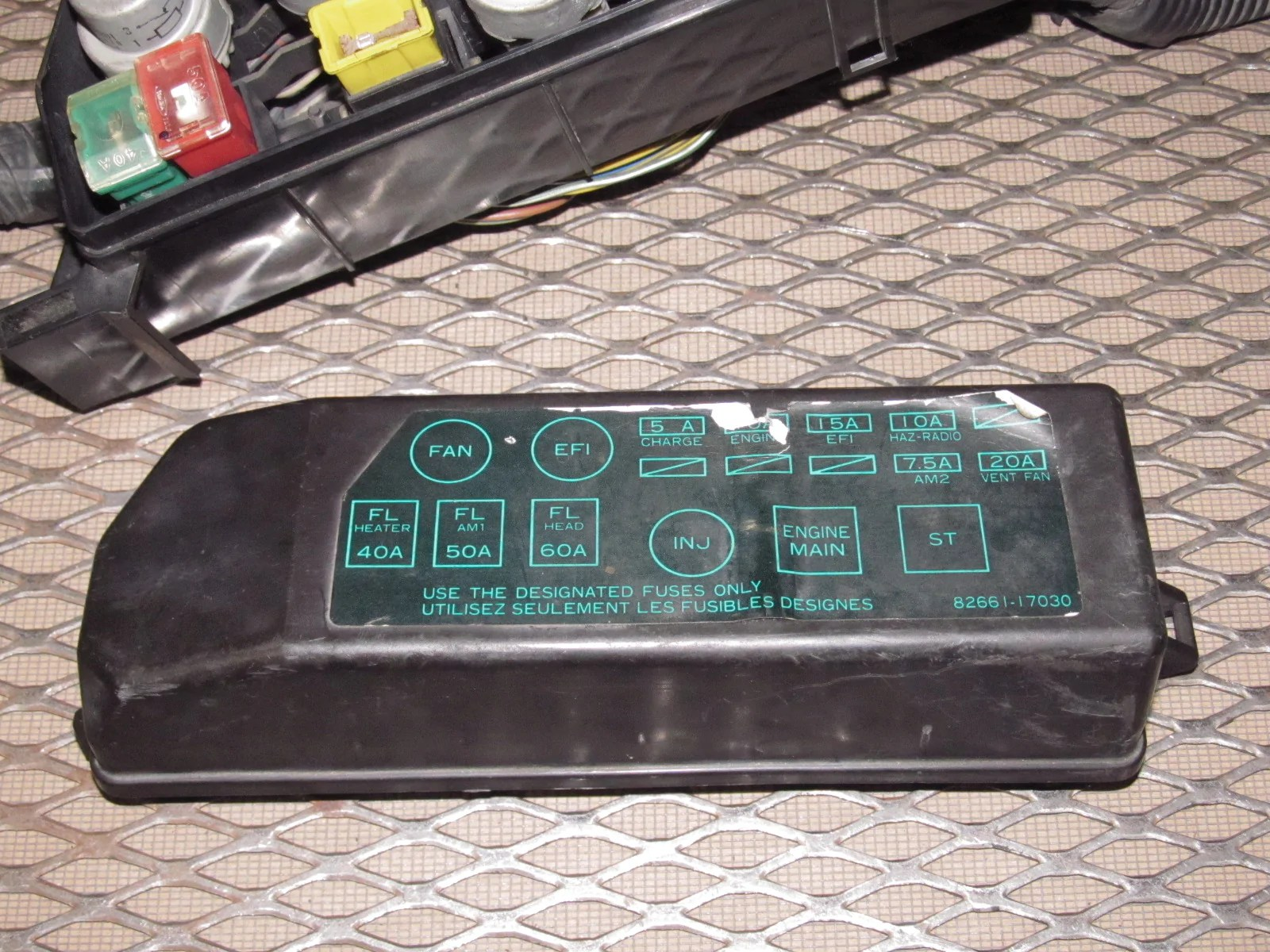 hight resolution of 1986 toyota mr2 fuses box numbers wiring diagrams konsult 1986 toyota mr2 engine fuse box universal