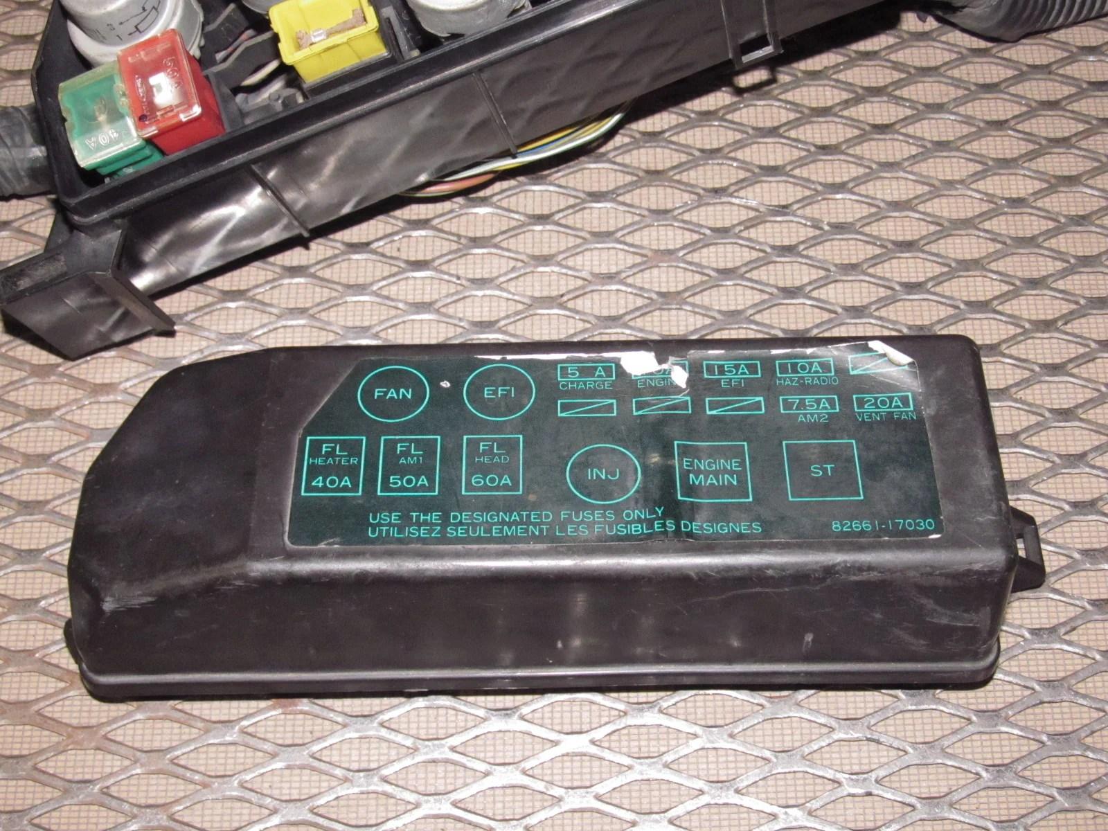 medium resolution of 85 86 toyota mr2 oem engine fuse box autopartone com 1986 toyota mr2 engine fuse box