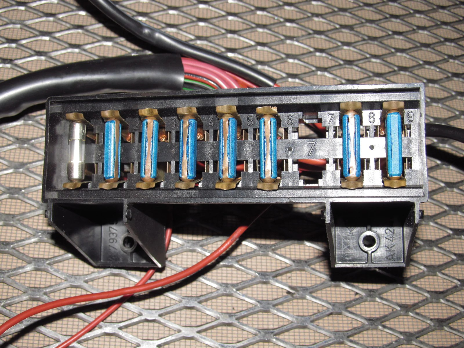 hight resolution of  83 85 porsche 944 oem interior fuse box
