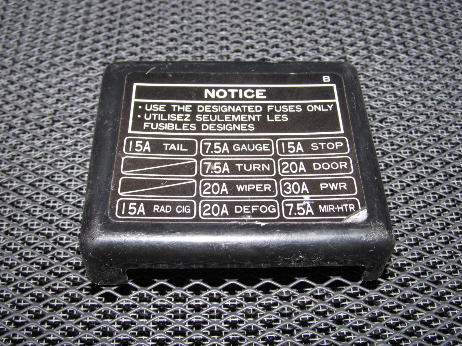 small resolution of 1991 mr2 fuse box
