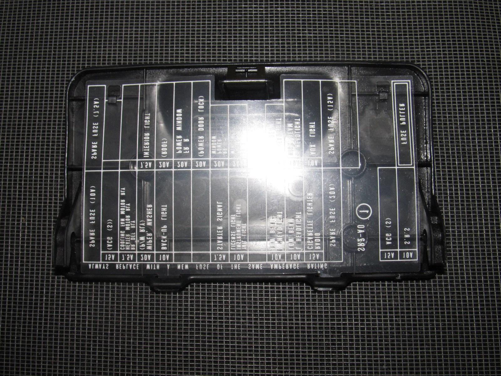 medium resolution of  93 94 95 96 97 honda del sol oem interior fuse box cover