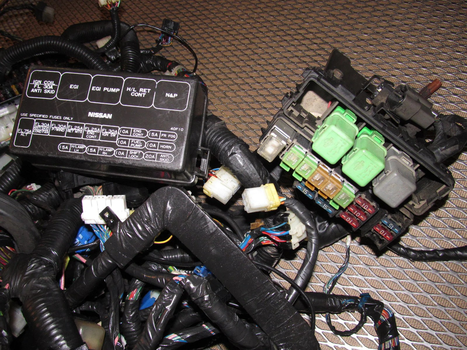 medium resolution of  89 90 nissan 240sx oem fuse box wiring harness