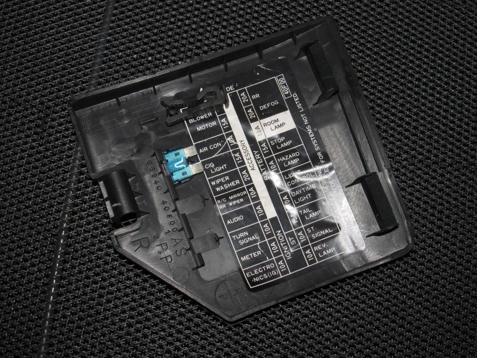 89 90 91 92 93 94 nissan 240sx oem interior fuse box cover gray 2003 nissan altima fuse box location nissan fuse box cover [ 1600 x 1200 Pixel ]