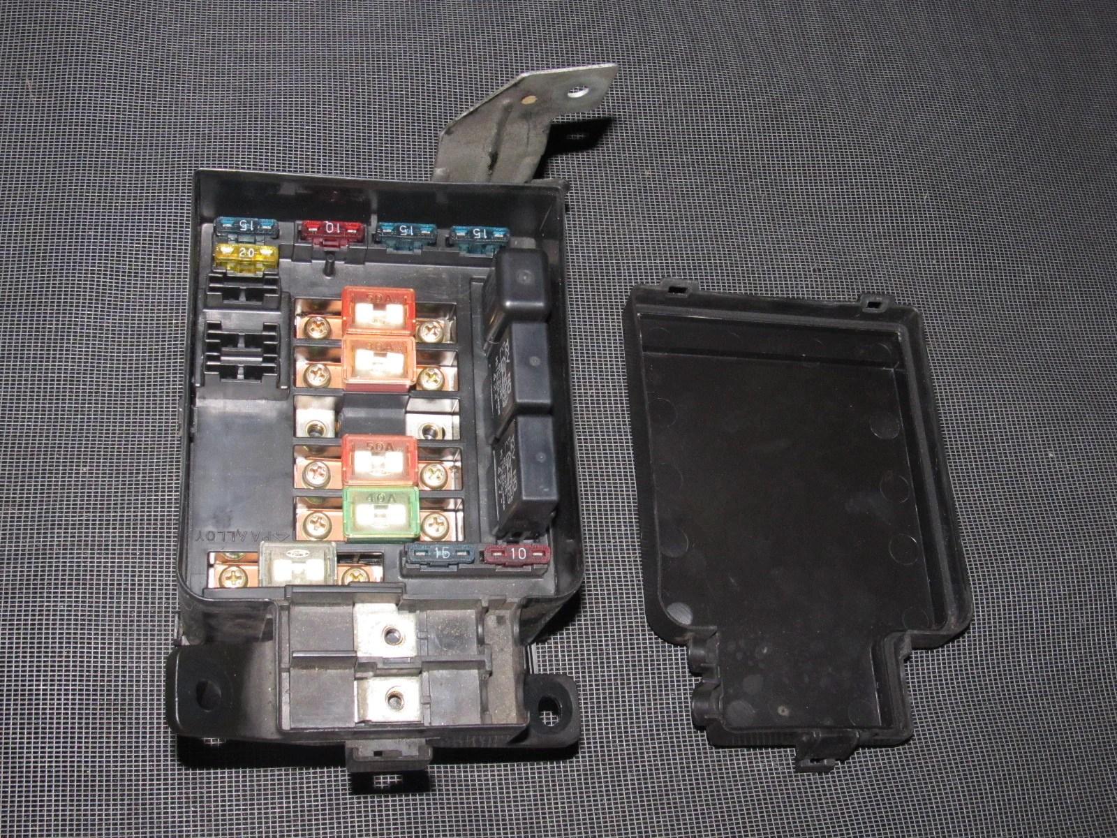 medium resolution of  93 94 95 honda del sol oem b16 engine fuse box with relays