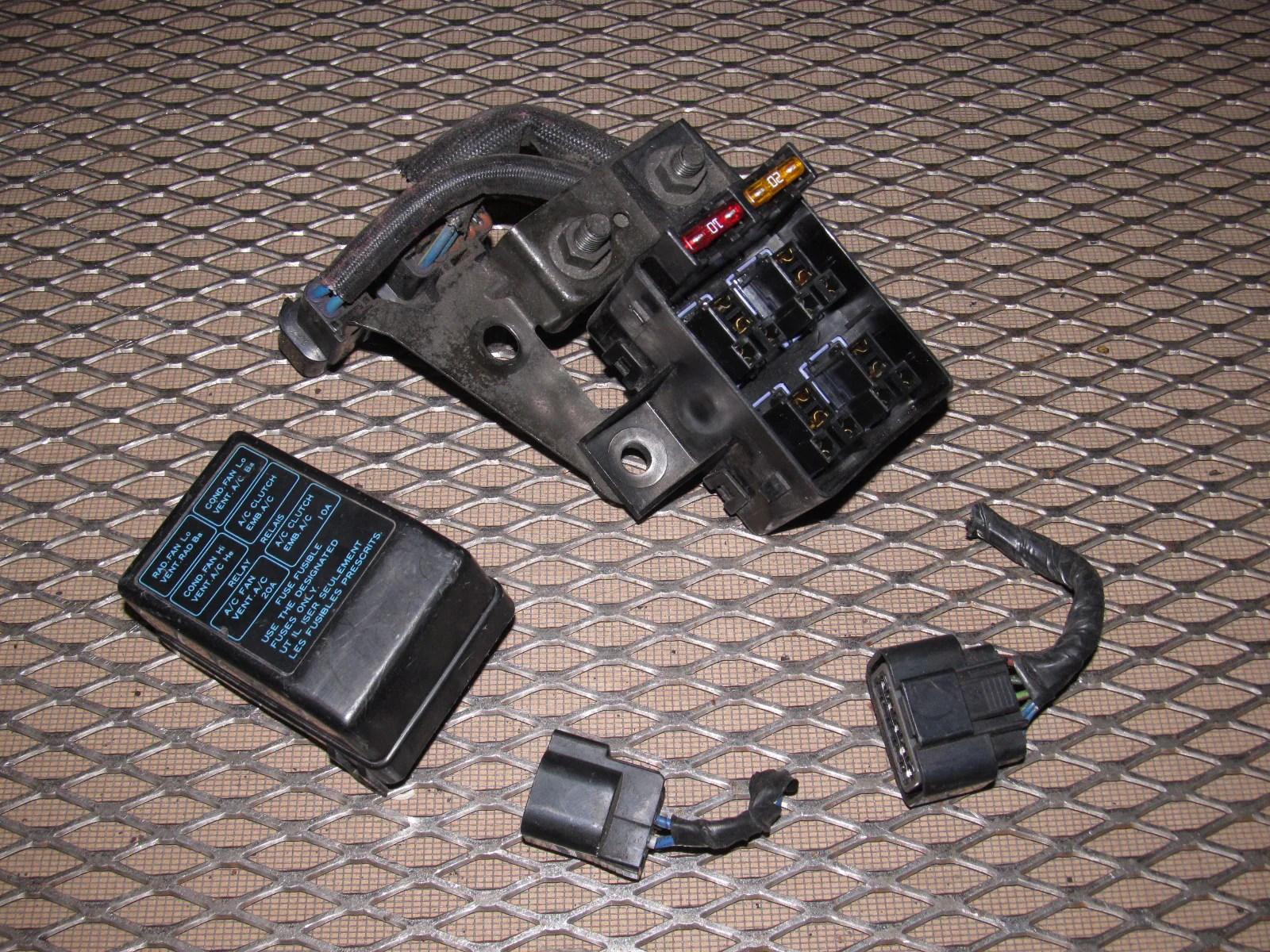 hight resolution of  91 92 93 dodge stealth oem radiator fan a c clutch fan relay fuse box