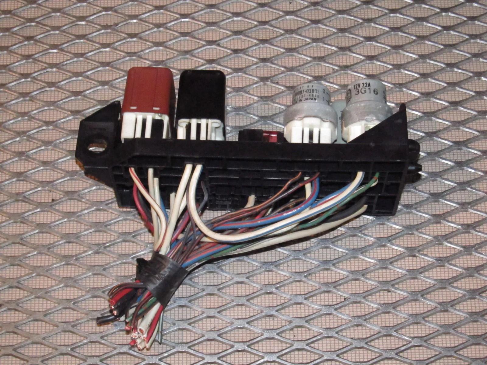 87 88 89 toyota mr2 oem interior front hood fuse box  [ 1600 x 1200 Pixel ]