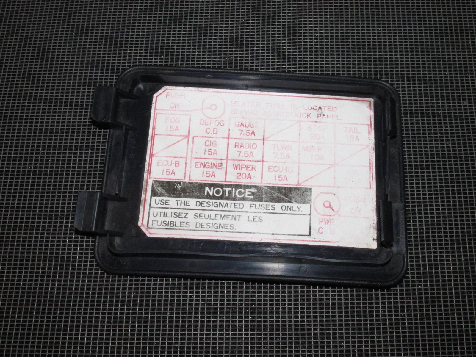 89 90 91 92 toyota supra oem interior fuse box cover [ 1600 x 1200 Pixel ]