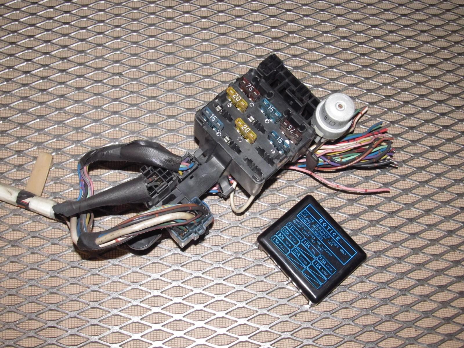87 88 89 toyota mr2 oem interior dash fuse box  [ 1600 x 1200 Pixel ]