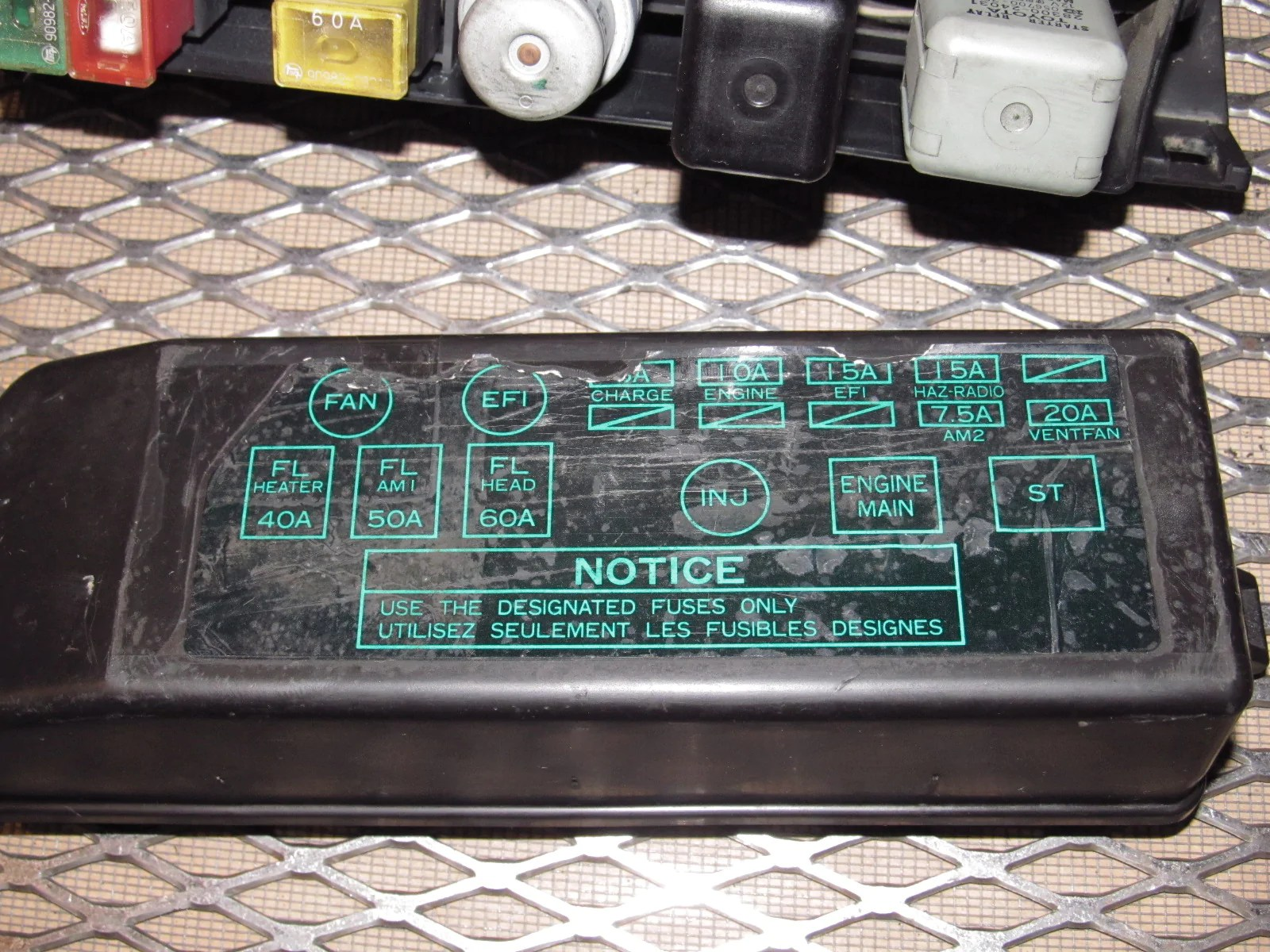 small resolution of  87 88 89 toyota mr2 oem engine fuse box