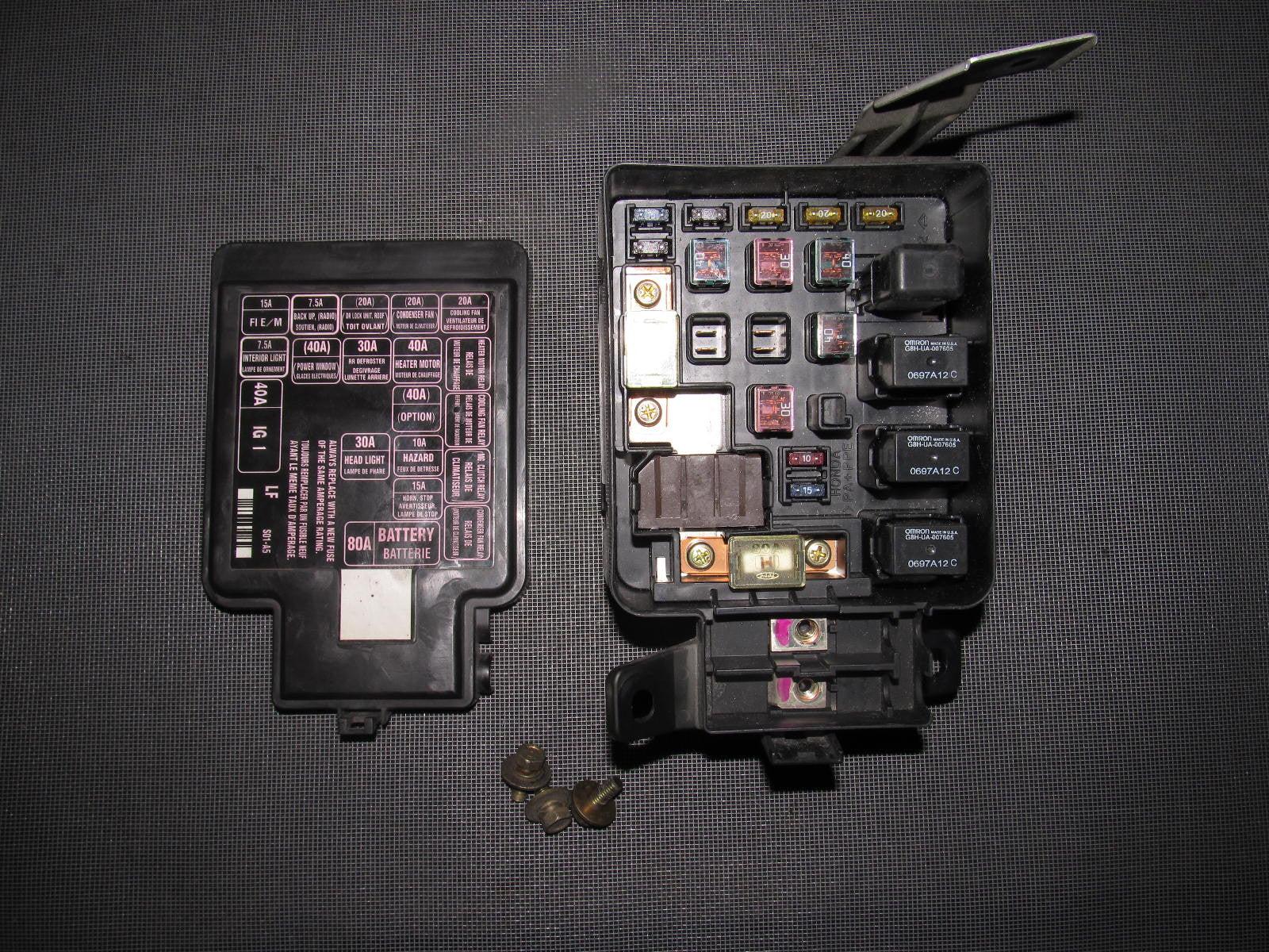 96 97 98 99 00 honda civic oem engine fuse box [ 1600 x 1200 Pixel ]