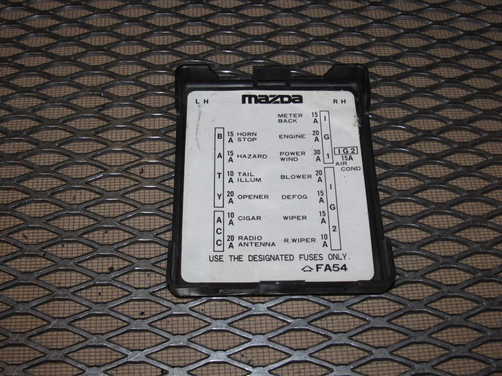 hight resolution of fc rx7 fuse box diagram detailed schematics diagram rh keyplusrubber com 1999 mazda 626 fuse box