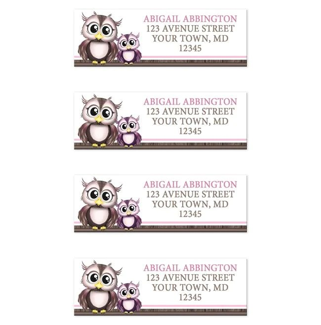 adorable pink owl and