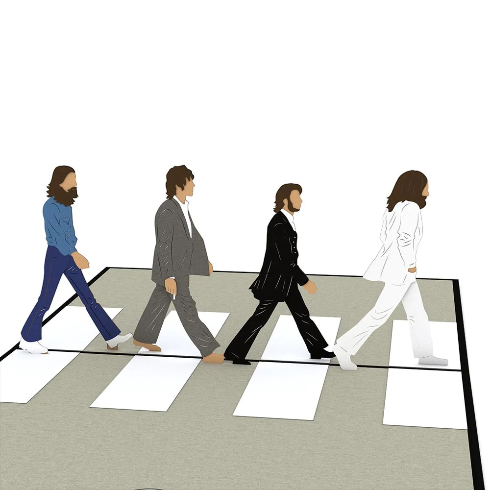 The Beatles Abbey Road Pop Up Card Lovepop