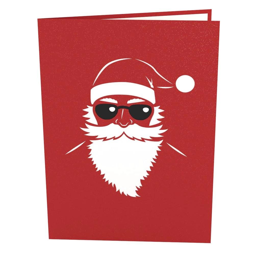 Santa Biker Pop Up Christmas Card Lovepop