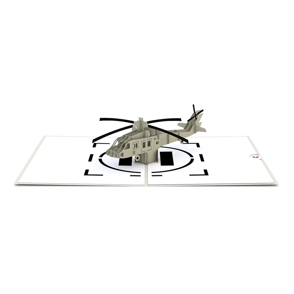 hight resolution of blackhawk helicopter pop up card