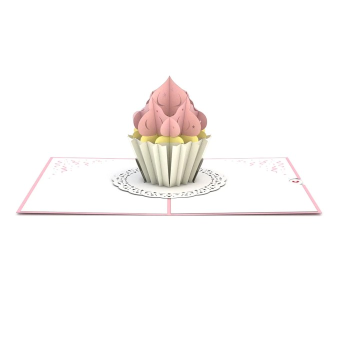 Cupcake Birthday pop up card