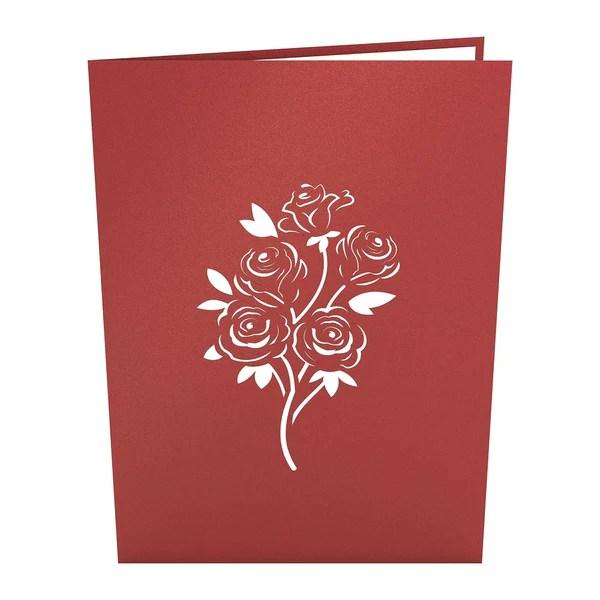 3D Rose Bouquet Pop Up Card Lovepop
