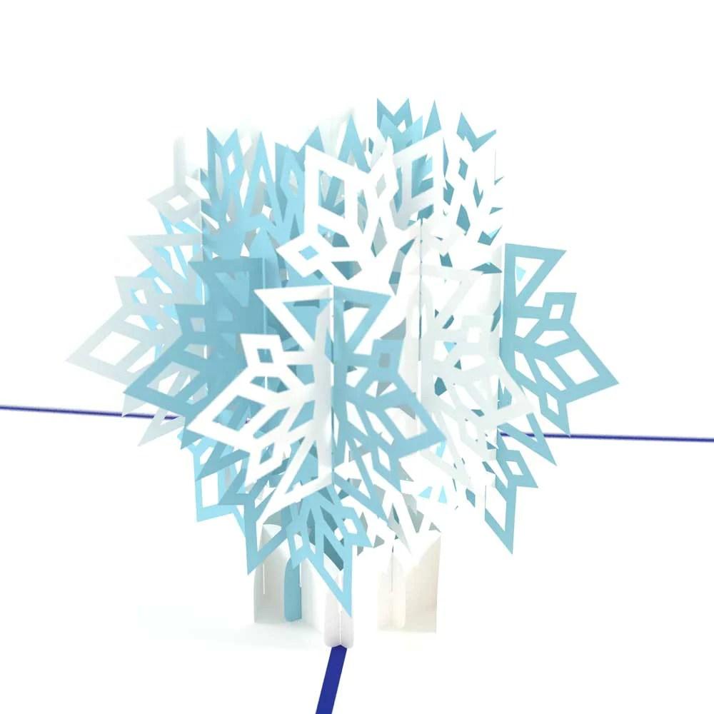 3D Winter Snowflake Pop Up Christmas Card Lovepop