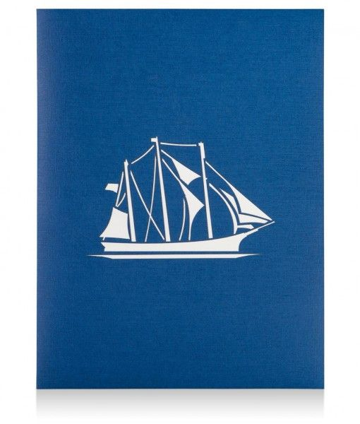 3D Young America Sailing Ship Pop Up Card Lovepop