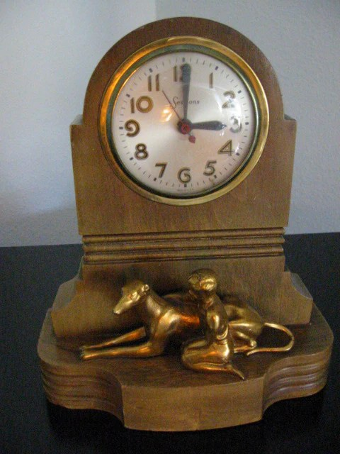 Art Deco Bronze Statue Master Crafters Sessions Clock