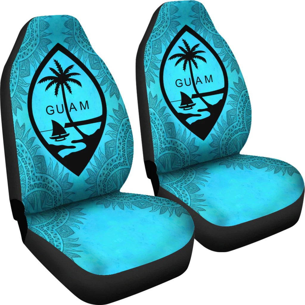 guam turquoise car seat covers set of
