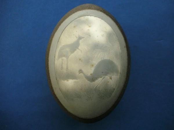 Antique Australian aboriginal carved emu egg no 2  The