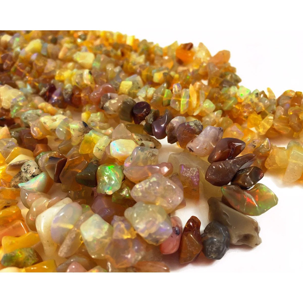Fire Opal Chips Strand - Beads Of Paradise