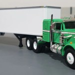 1 64 Peterbilt Green White And Trailer Diecast Made By First Gear Diec Tufftrucks Scale Models