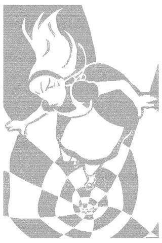Alice's Adventures in Wonderland - Alice Falls to Wonderland poster art print - Postertext