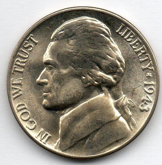 1943 D Jefferson Nickel Uncirculated – NKAcoins