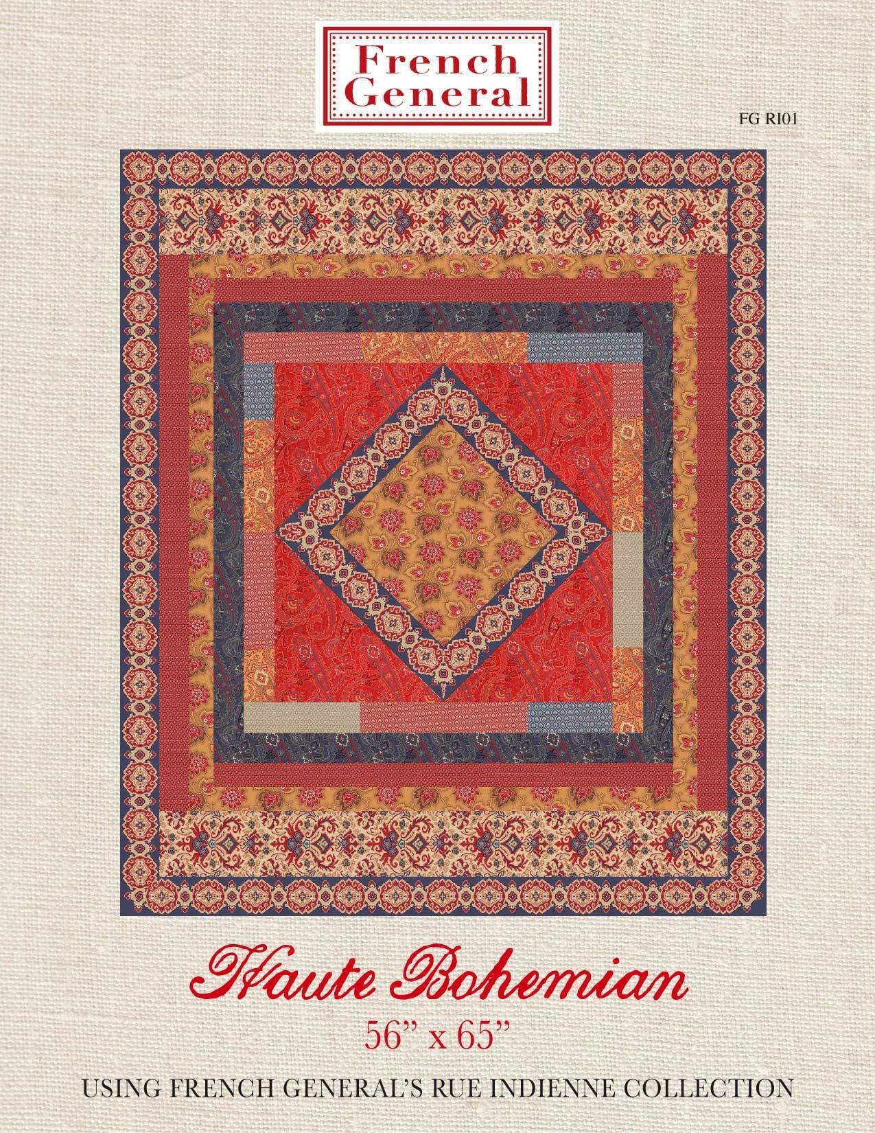 rue indienne haute bohemian quilt pattern