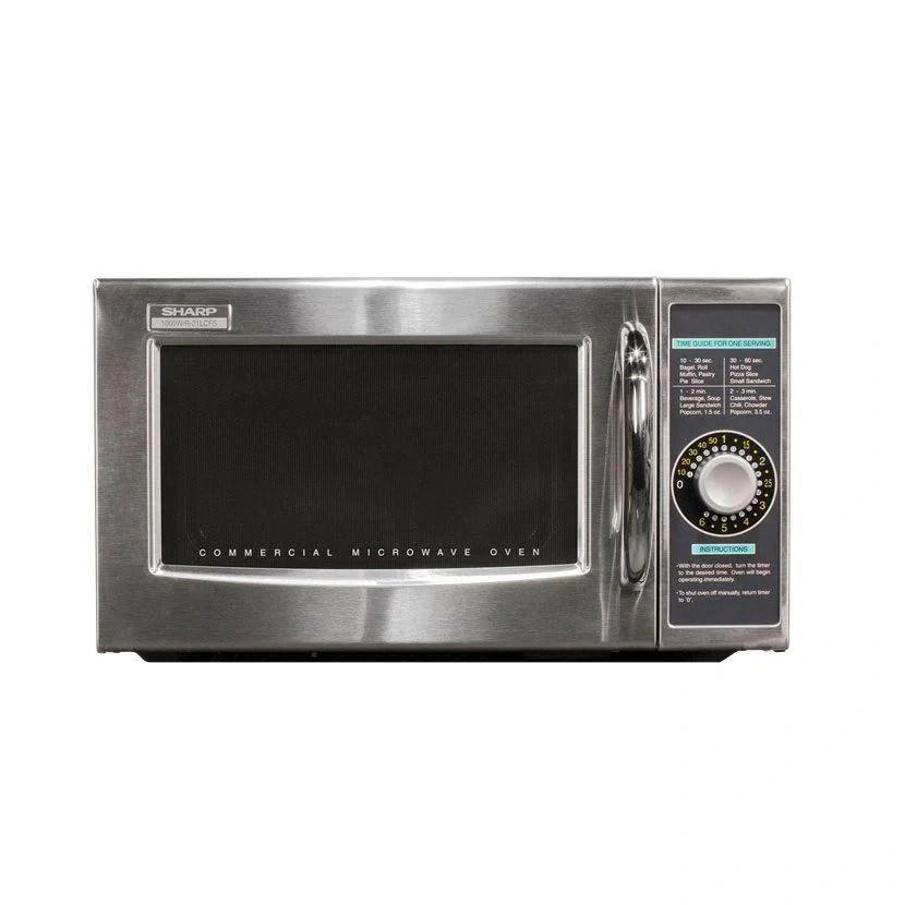 sharp r 21lcf commercial microwave 1000 watts the restaurant warehouse
