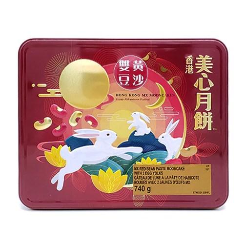 香港美心雙黃豆沙月餅740g