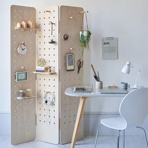 Pegboard Room Divider Folding Screen Kreisdesign