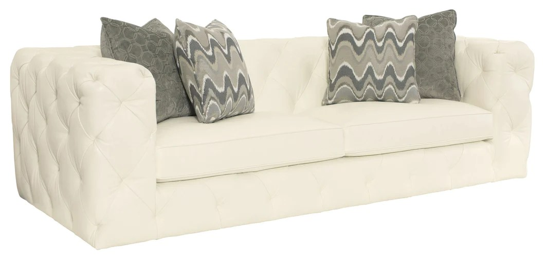White Leather Tufted Sofa   Home Furnishings   Laura of ...