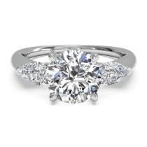 Ritani Modern Three-Stone Diamond Engagement Ring 1RZ1010