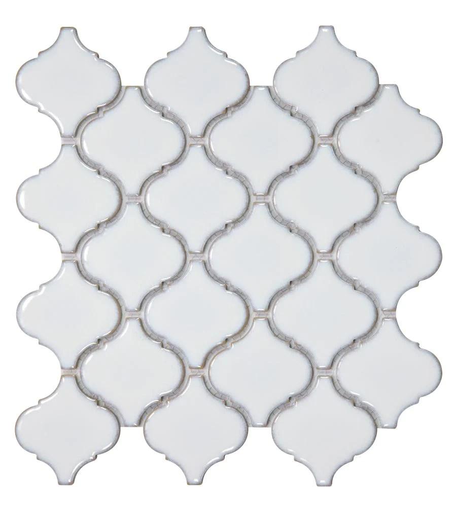 elysium tiles hulu fancy white 9 75 x 9 75 mosaic tile