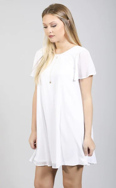 show me your mumu willis dress  white chiffon