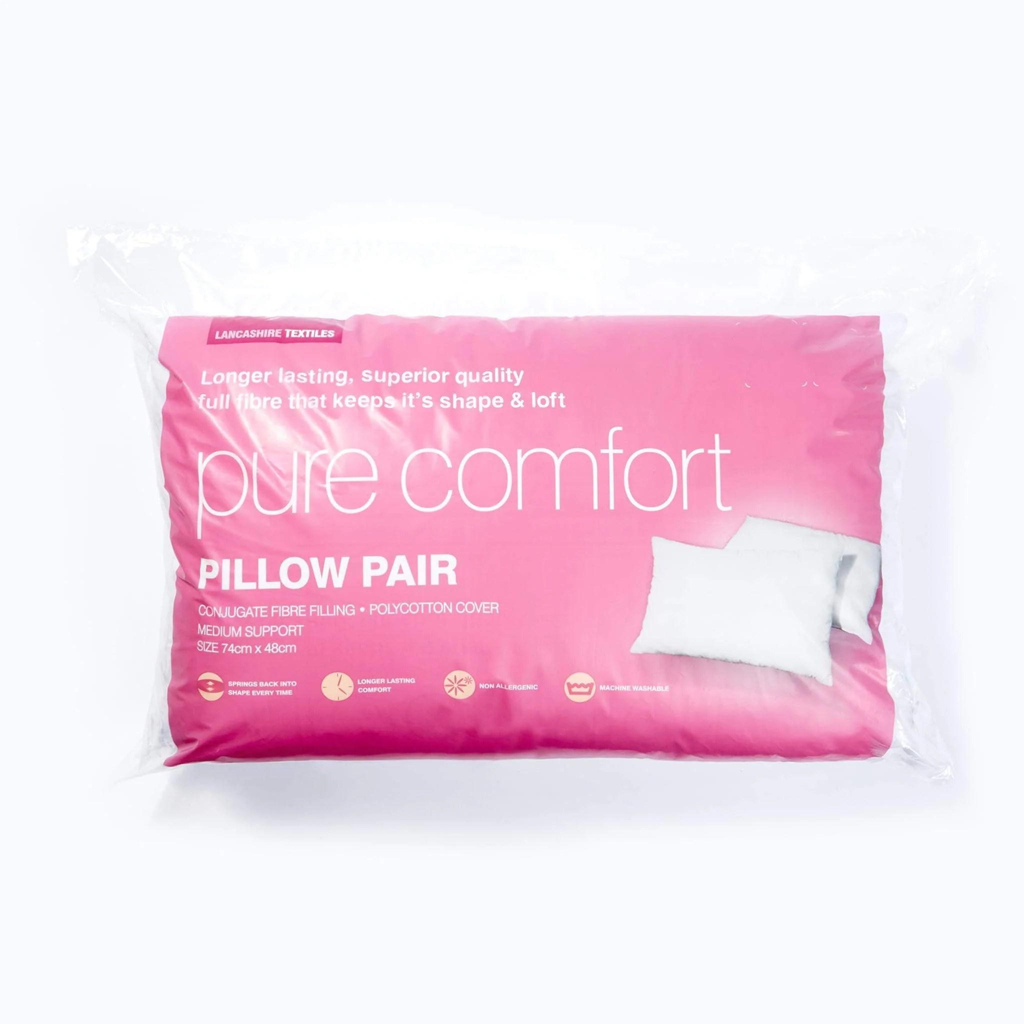 pure comfort pillow pair