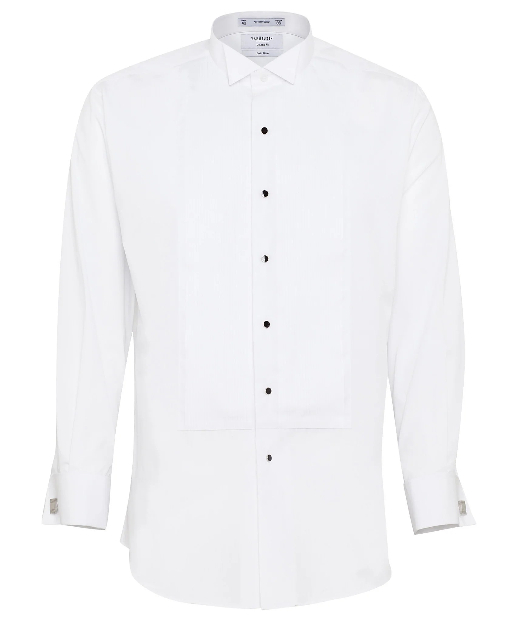 Van heusen gents formal dinner wing collar pleated front classic fit shirt also rh corporateapparelonline